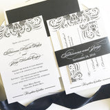 Great Gatsby Wedding Invitation - Flat Printing - Sample