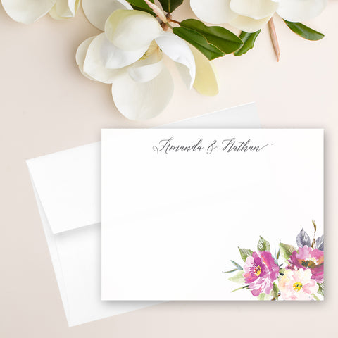 Bohemian Floral Note Card