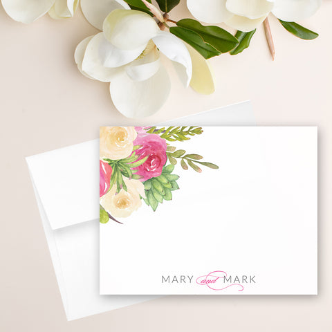 Floral Watercolor Note Card