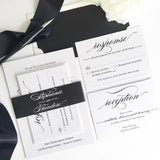 Large Name Calligraphy Wedding Invitation Suite