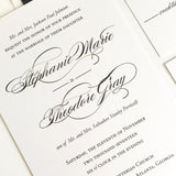 Extra Large Calligraphy Wedding Invitation