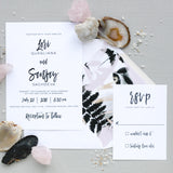 Brush Calligraphy Wedding Invitation - Thermography