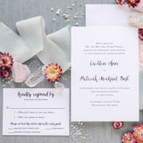 Grace Wedding Invitation - Thermography - Sample