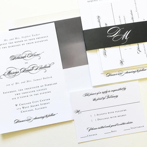 Grace Wedding Invitation - Flat Printing