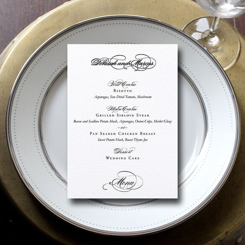 Grace Wedding Menu