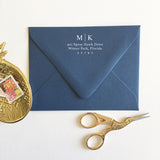 2 Letter Monogram Address Stamp