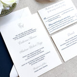 Initials Wedding Invitation - Thermography