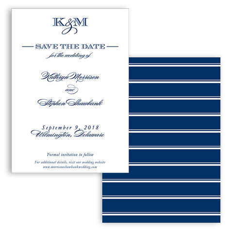 Modern Monogram Save the Date