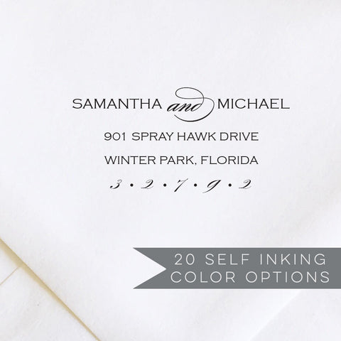 Wedding RSVP Envelope Address Stamp