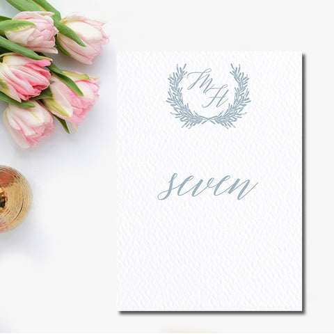 Laurel Wreath Table Number