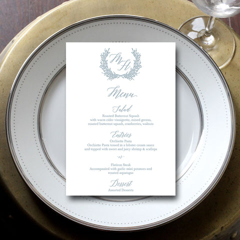 Laurel Wreath Wedding Menu