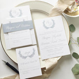 Laurel Wreath Wedding Invitation
