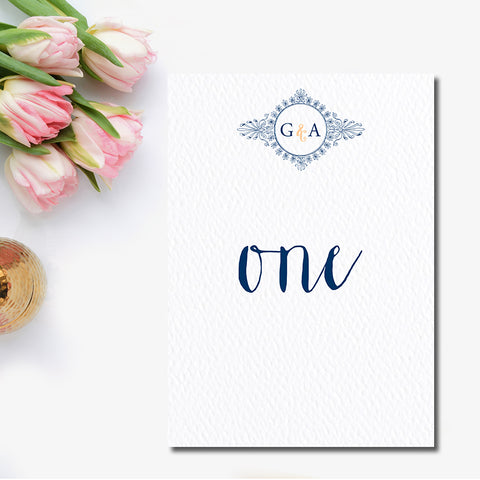 Monogram Wreath Table Number
