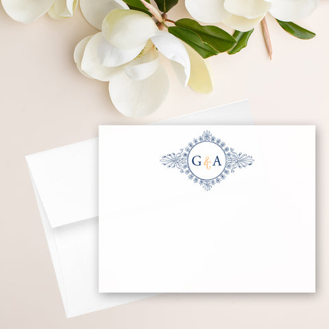 Monogram Wreath Note Card