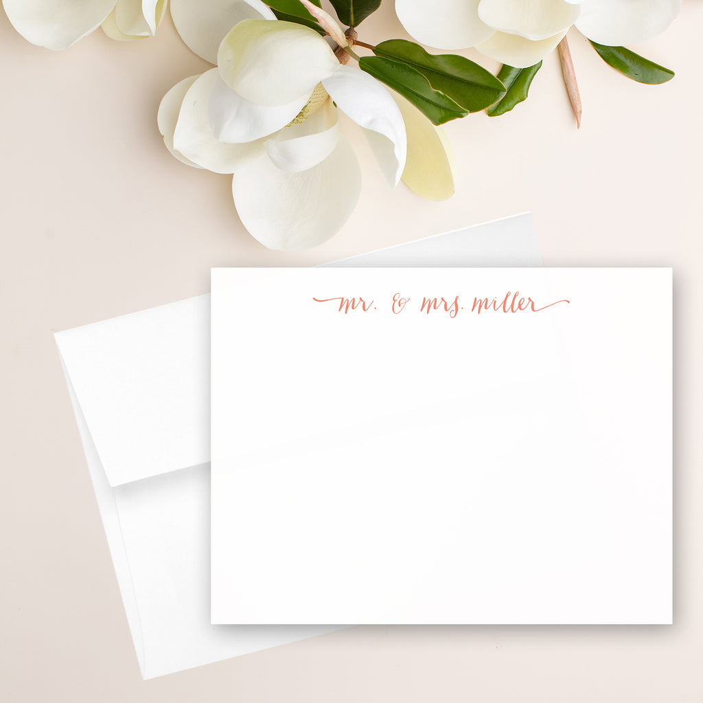 Mr. and Mrs. Note Card