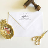 Curved Name Address Stamp