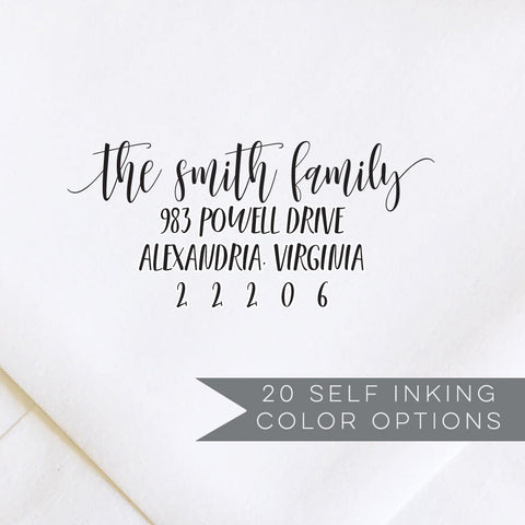 Calligraphy Script Address Stamp