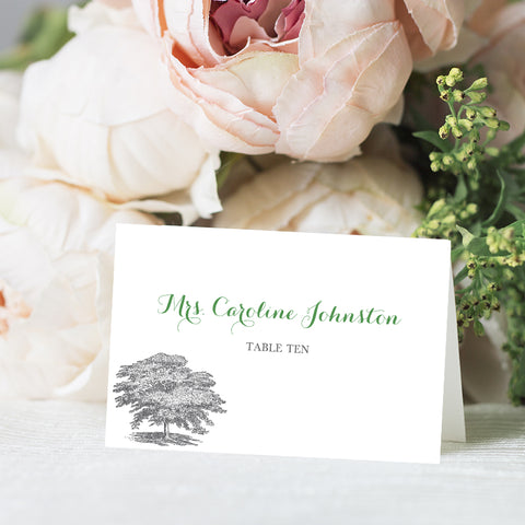 Oak Tree Place Card