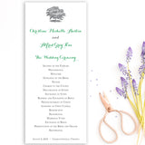 Oak Tree Wedding Program