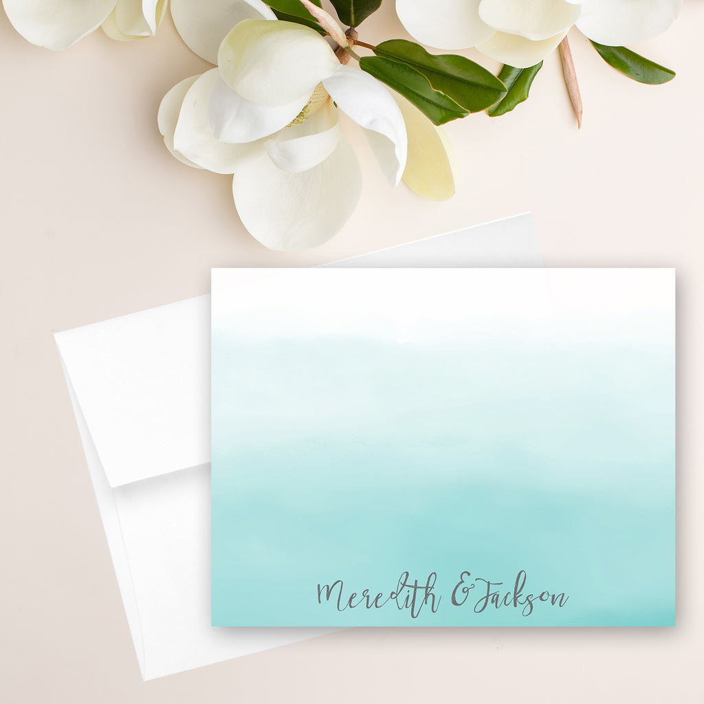 Blue Ombre Note Card
