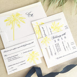 Palm Tree Wedding Invitation - Flat Printing
