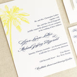 Palm Tree Wedding Invitation - Flat Printing - Sample