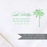 Palm Tree Return Address Stamp