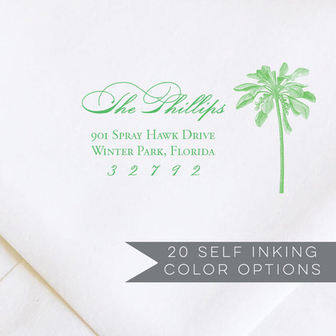 Palm Tree Address Stamp