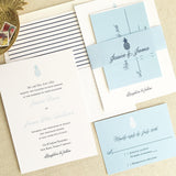 Pineapple Wedding Invitation - Flat Printing - Sample