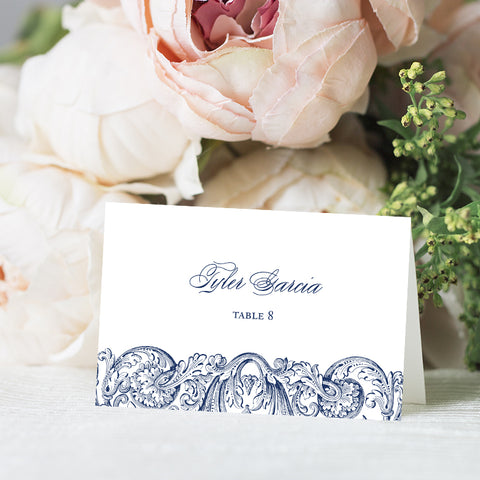 Vintage Romantic Place Card