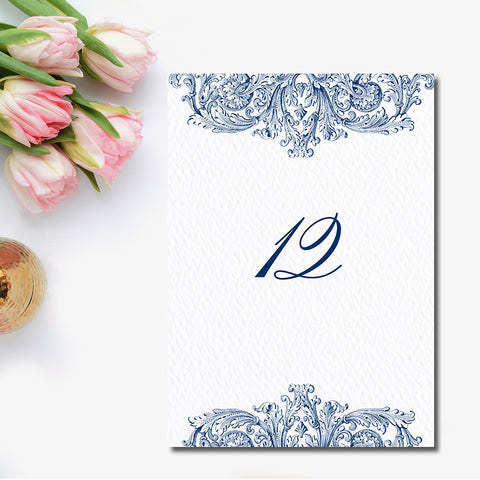 Vintage Romantic Table Number