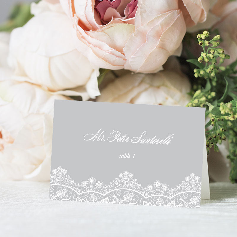 Elegant Lace Place Card