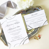 Ribbon Wedding Invitation - Flat Printing - Sample