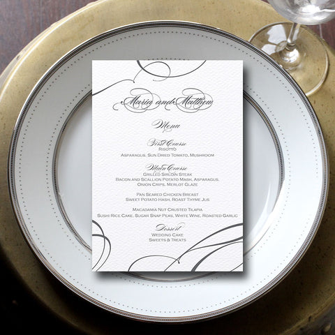 Ribbon Wedding Menu