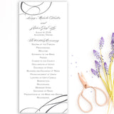 Ribbon Wedding Program