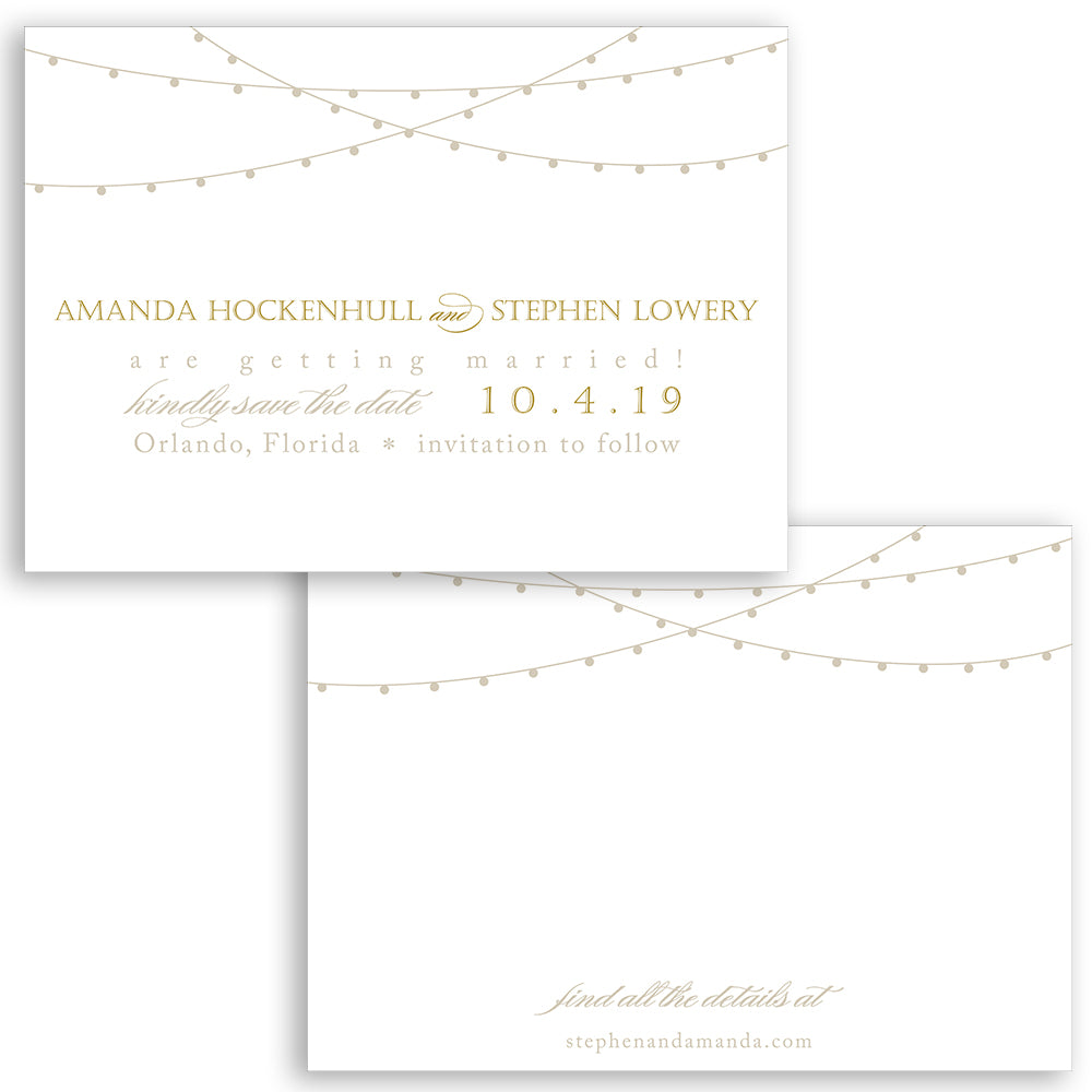 String of Lights Save the Date