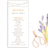 String of Lights Wedding Program