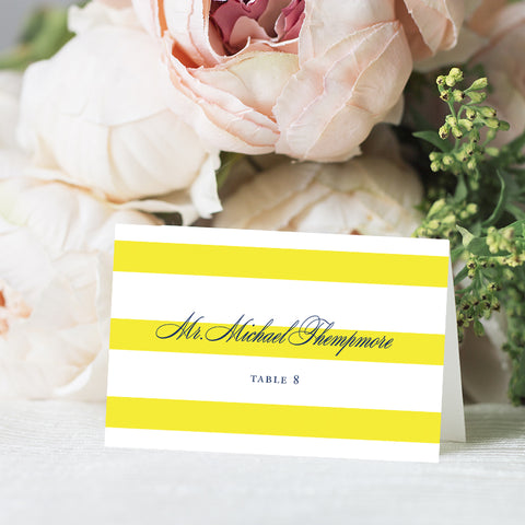 Preppy Stripe Place Card