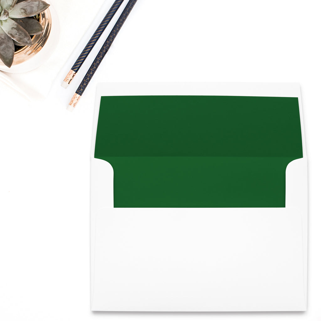 Forest Green Envelope Liner