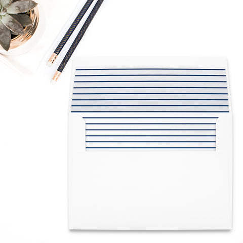 Navy Stripe Envelope Liner