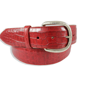 Caiman Crocodile - Dark Red
