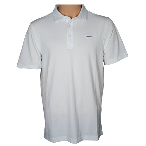 OPC white short sleeve pima polo