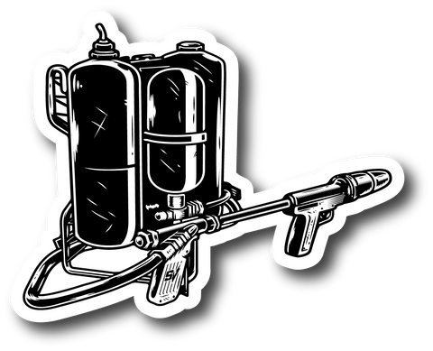 STAY VIOLENT FLAMETHROWER STICKER