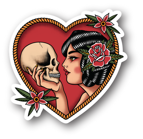DEATH AND I STICKER