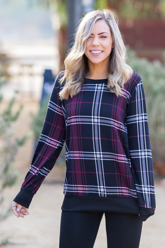 Plaid To Be Me Pullover