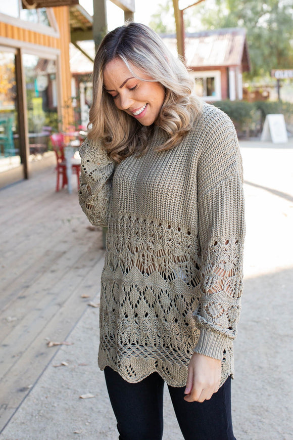 Beautiful Inside & Out Crochet Sweater