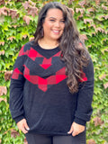 Chevron in Check Hacci Pullover