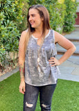Smokey Skies Sleeveless Top