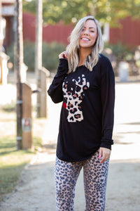 Guide My Sleigh Long Sleeve Top