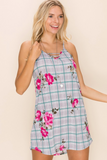 Checked in Floral Summer Tunic